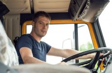 Young professionals in the trucking industry.